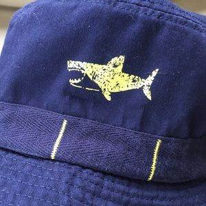 Carters Kids Navy Blue w/ Shark Bucket Fishing Hat